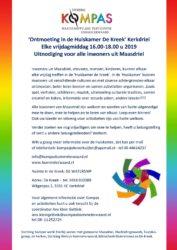Kompas Uitnodiging Huiskamer de Kreek 2019